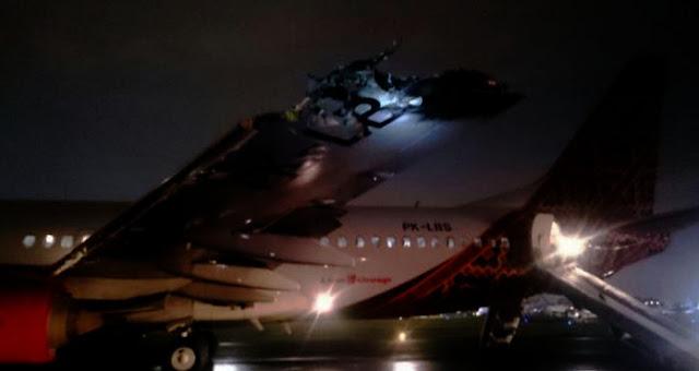 Bandara  International Indonesia Mengalami Tabrakan Pesawat