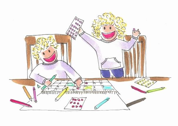Tina y Leo aprenden a usar un calendario