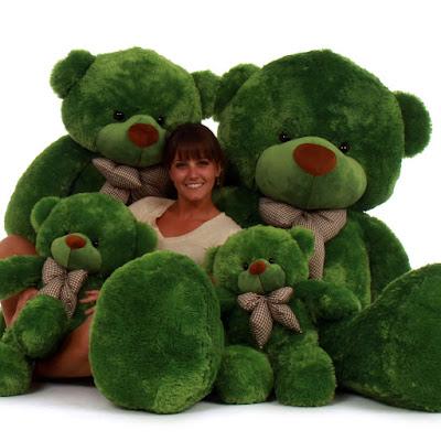 Lucky Cuddles is a beautiful Green Teddy Bear