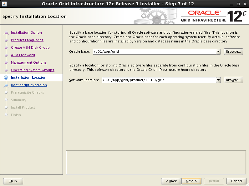 Installing Oracle 12c R1 Grid Infrastructure on Linux 7