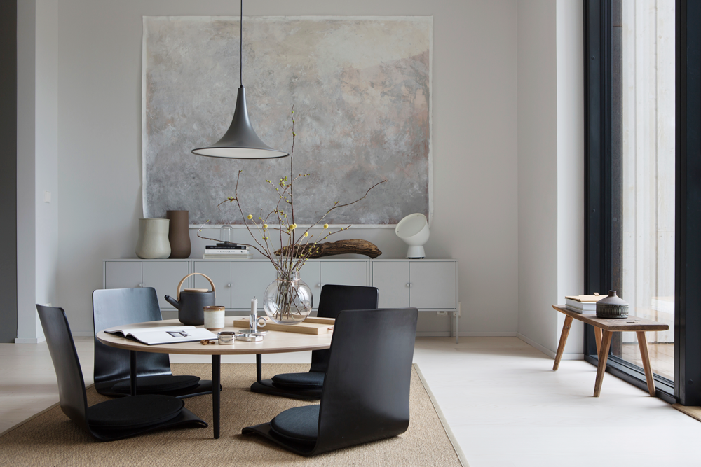tea drinking room in the minimalist nordic interior