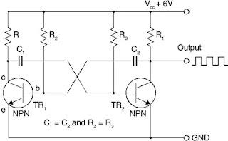 Astable multivibrator circuit
