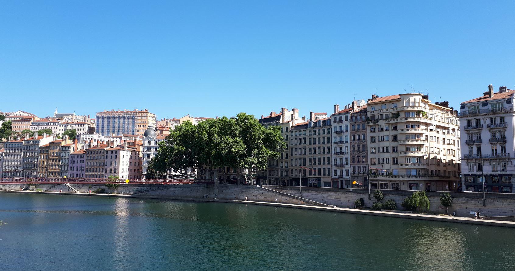 Lyon 1er et Croix-Rousse au loin