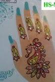 Reusable Henna Tattoos n Body Decor with glitter/sparkling beads,Simple and Beautiful-click picture