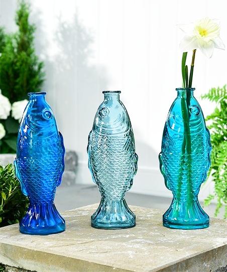 Fish Glass Vases