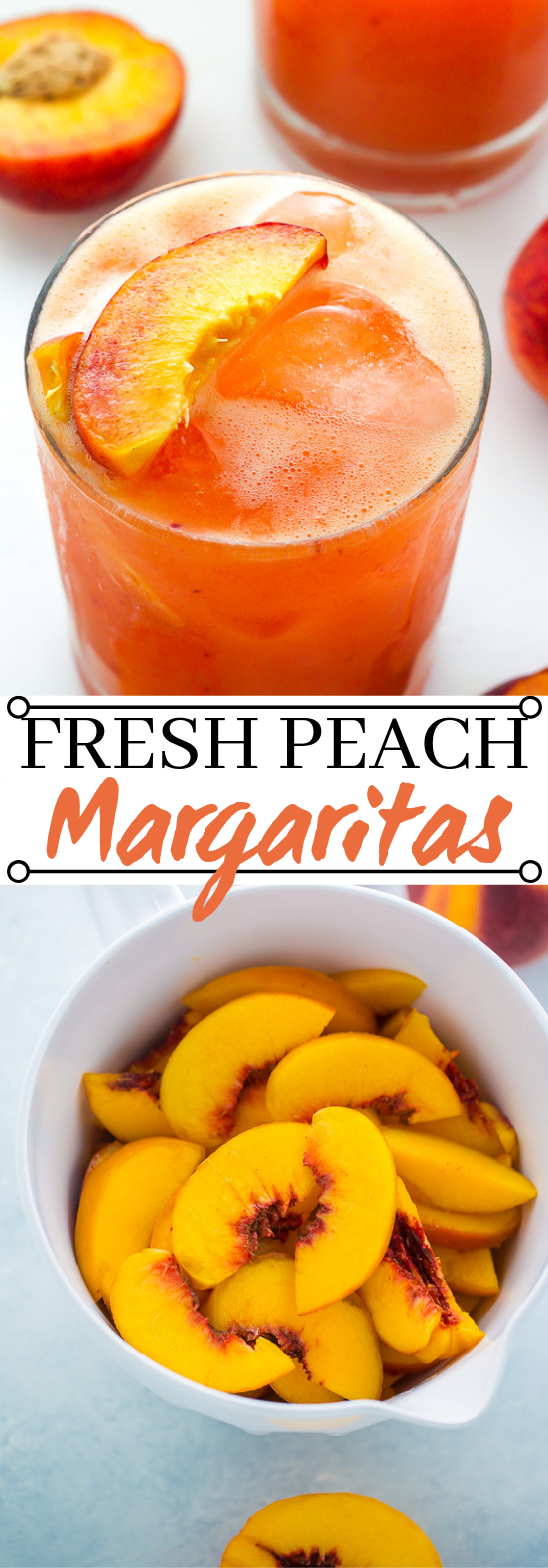 Fresh Peach Margaritas #summer #drinks