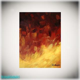 Πίνακας ζωγραφικής Sharon Cummings (Muse in the fire, 2011)