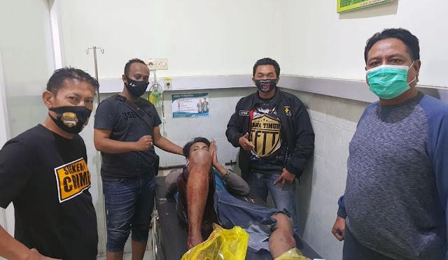 Pelaku begal saat dirawat di RS Bhayangkara