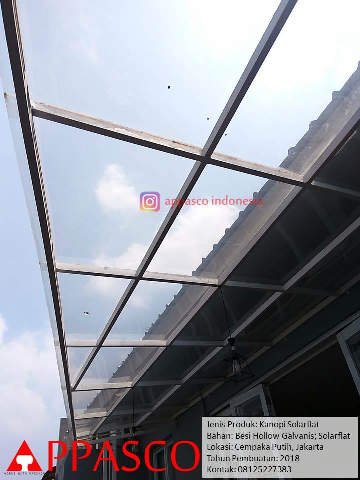 Kanopi Solarflat Bening Transparan di Cempaka Putih