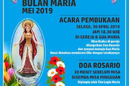 Agenda Kegiatan Bulan Maria Mei 2019