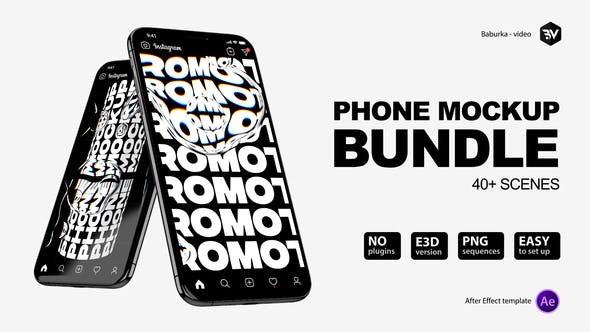 Phone Mockup Bundle[Videohive][After Effects][26433855]