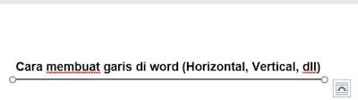 Garis horizontal di word