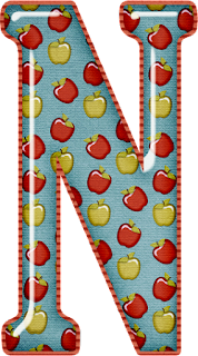 Abecedario con Manzanas Rojas y Verdes. Alphabet with Red and Green Apples.