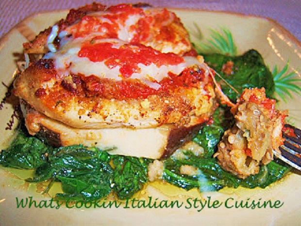 this is a spinach style eggplant and chicken dish