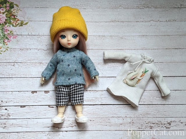 Шьем свитер для куклы Баболи