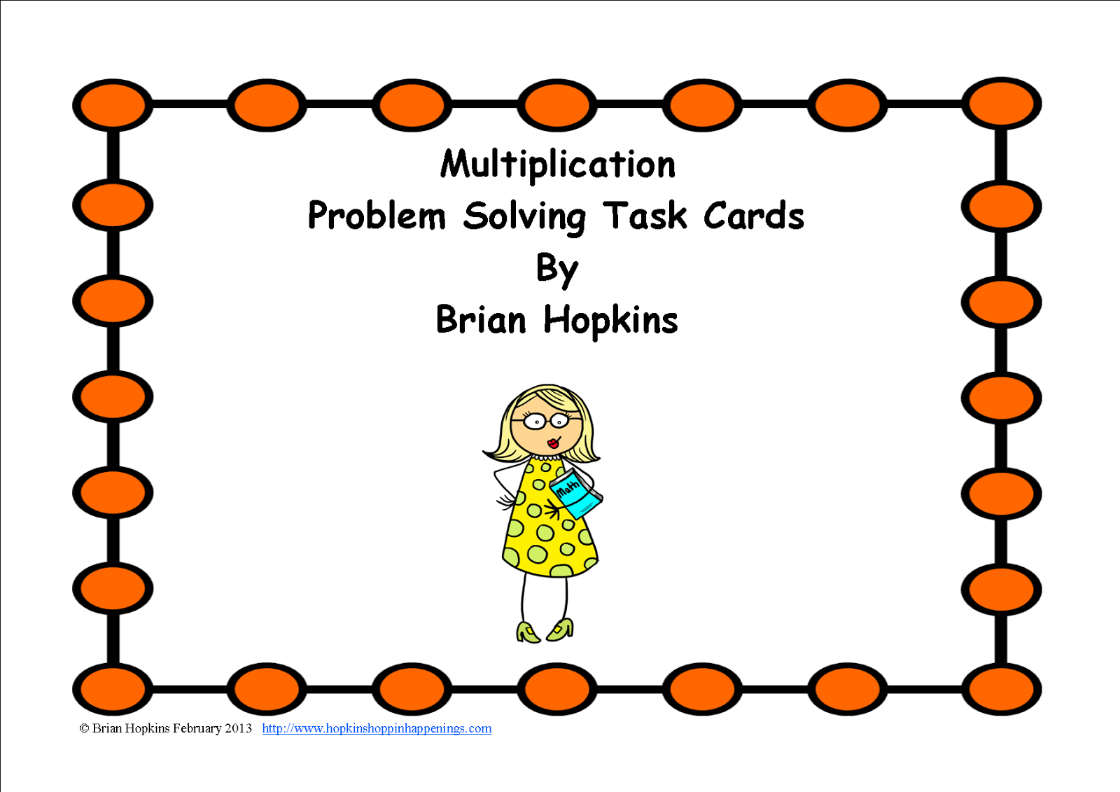 Hopkins Hoppin Happenings Task Card Fun