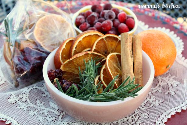 Dried Orange - Cranberry Stove Top Potpourri