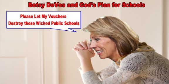 Image result for betsy devos religious charter school