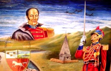 Dibujo a la Batalla de Junín para niños