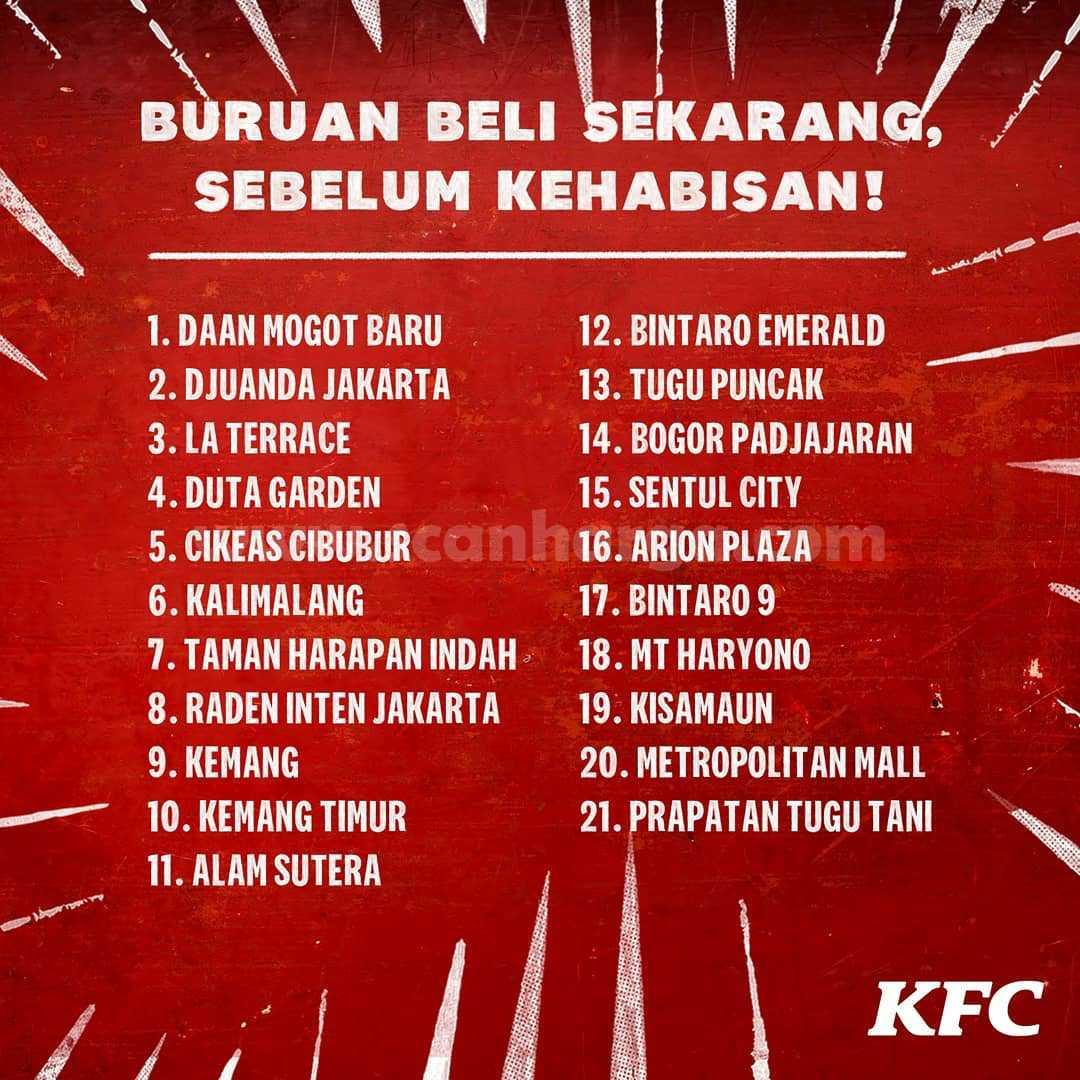Promo PUKIS KFC Paket 5 PCS Rp 20.000 - Tersedia di 21 Gerai KFC