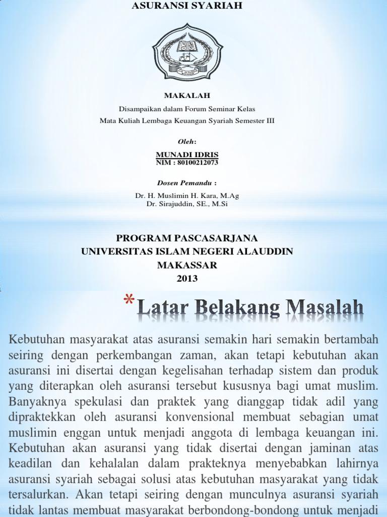 makalah asuransi syariah - wood scribd indo