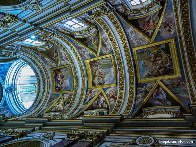 decoração do teto da Catedral de São Paulo, em Mdina, Malta