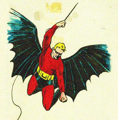 Diseño de Batman de Bob Kane antes de su primera aparición