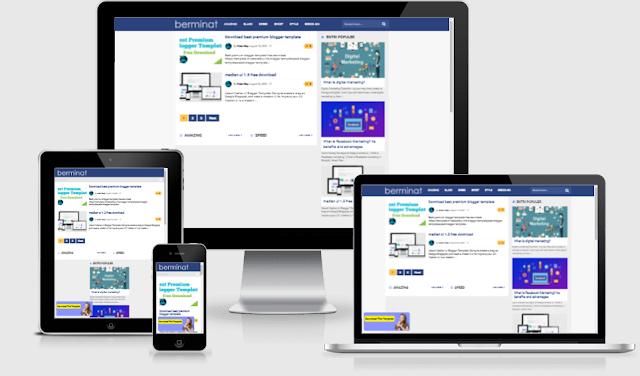 Berminat blogger template free download