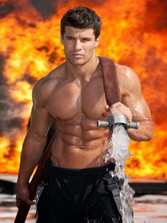 sexiest-firemen-shirtless-muscular-wet-body-abs