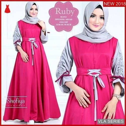 VLA034R69 Model Dress Ruby Magenta Murah BMGShop