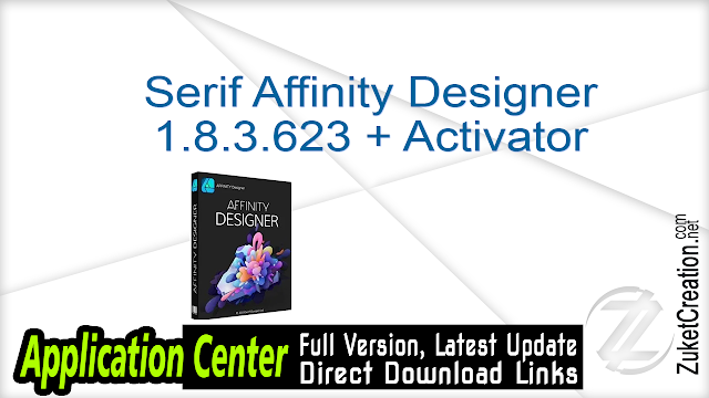 Serif Affinity Designer 1.8.3.623 + Activator