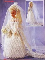 Vestido de Noiva Para Barbie Em Crochê Himénée