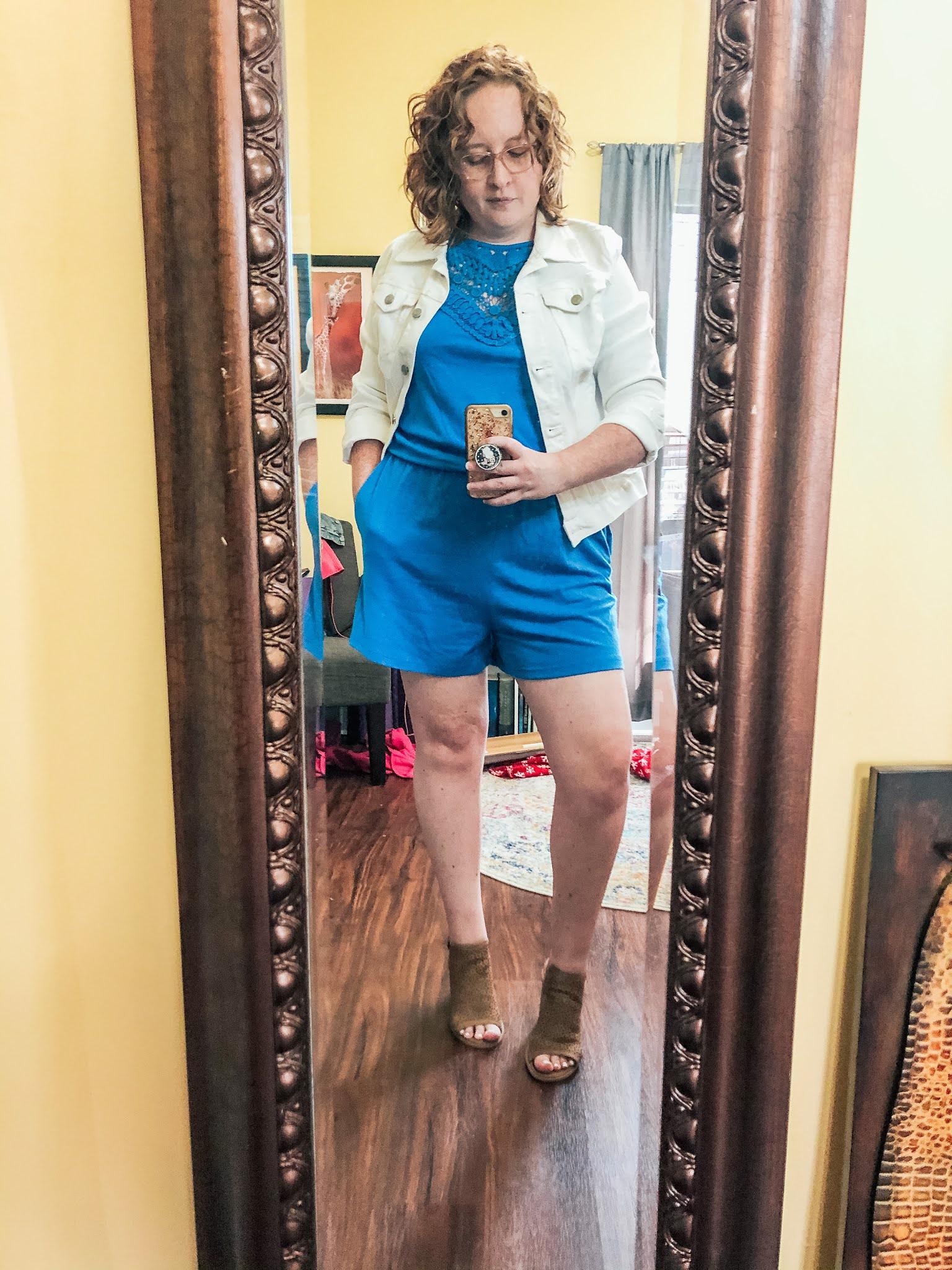 blue-romper-white-jean-jacket