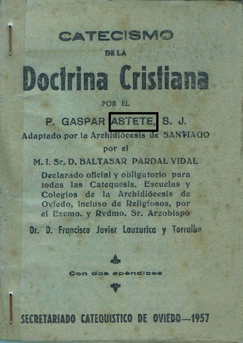 A Spanish Edition Of Astetes Catechism