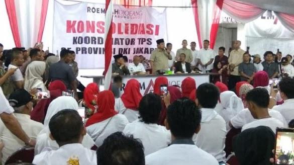 Waspadai Pemilih Hantu, Prabowo : Relawan Bawa Rantang dan Tikar Jaga TPS
