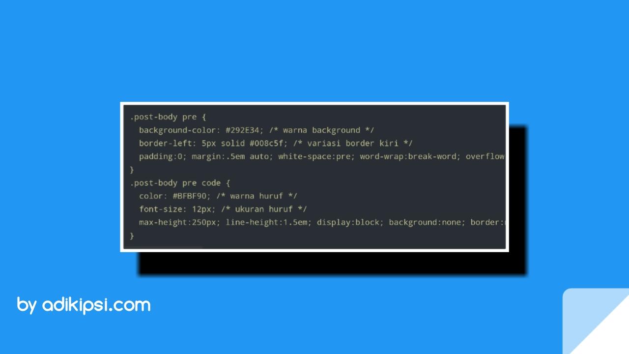 Cara Menggunakan Syntax Highlighter di Blogger