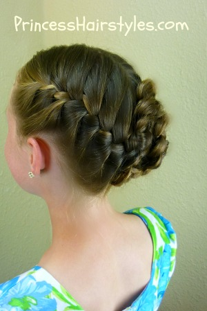 braided flower updo easter hairstyles