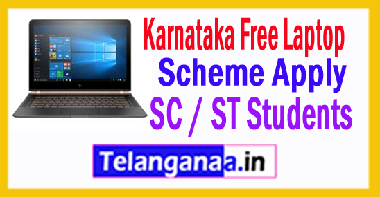 Karnataka Free Laptop Scheme for SC / ST Students 2017-18