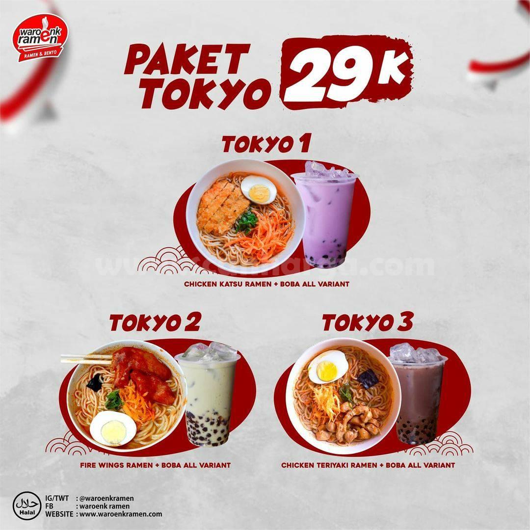 WAROENK RAMEN Promo BELI 1 Paket Tokyo GRATIS 1 Ramen Original* 2