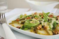 Ensalada de judías verdes con rúcula y vinagreta de yogur con thermomix