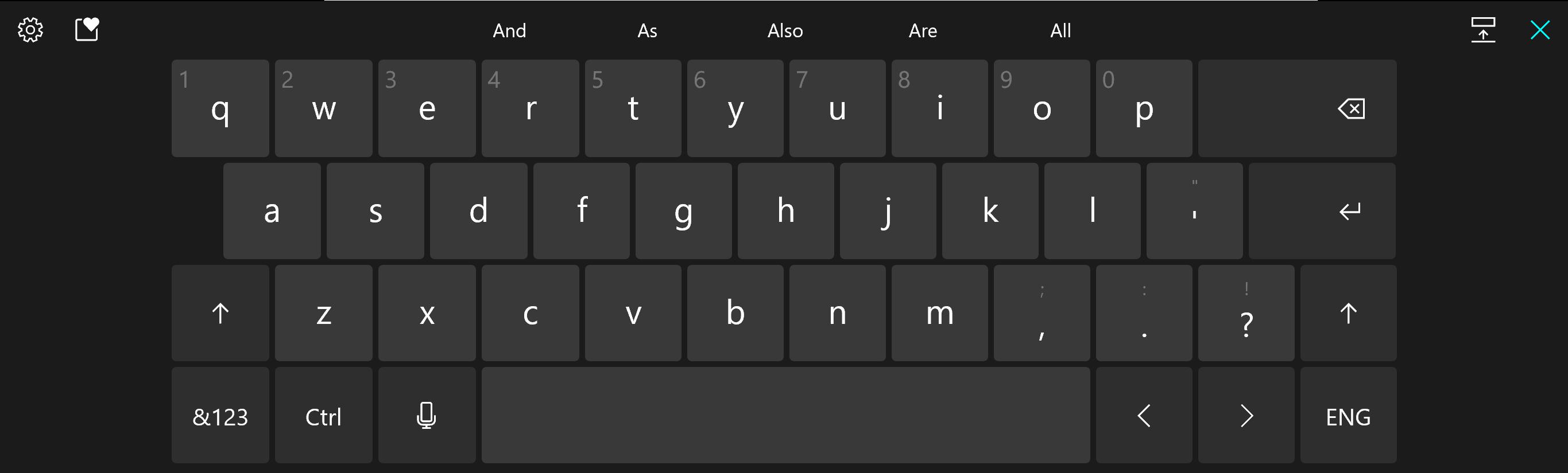 Miglioramenti al design della tastiera touch in Windows 10