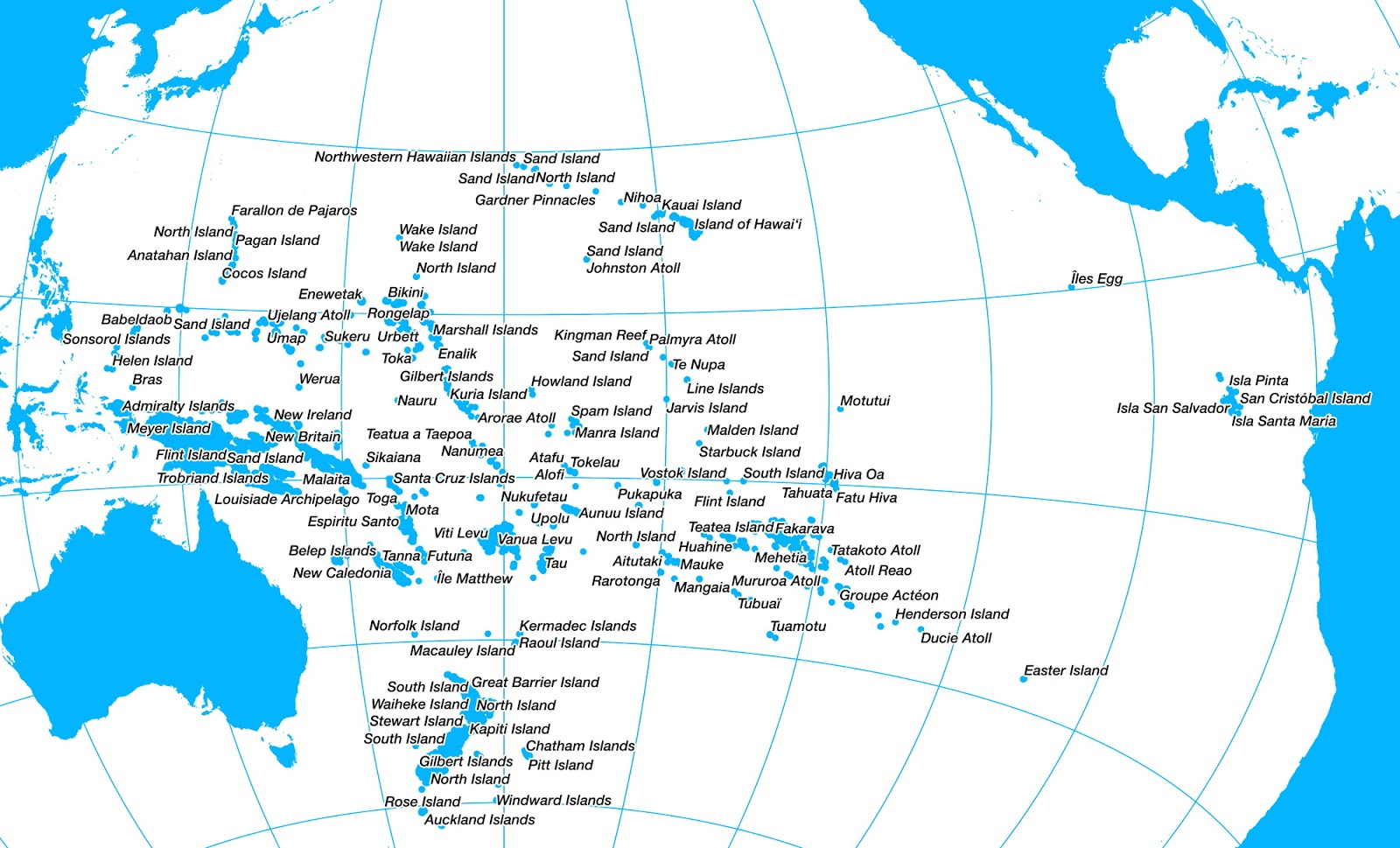 Oceania, the truncated continent