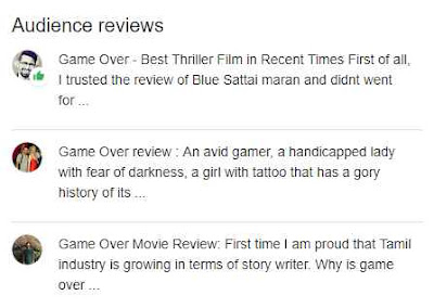 game over hindi 2019 audience review