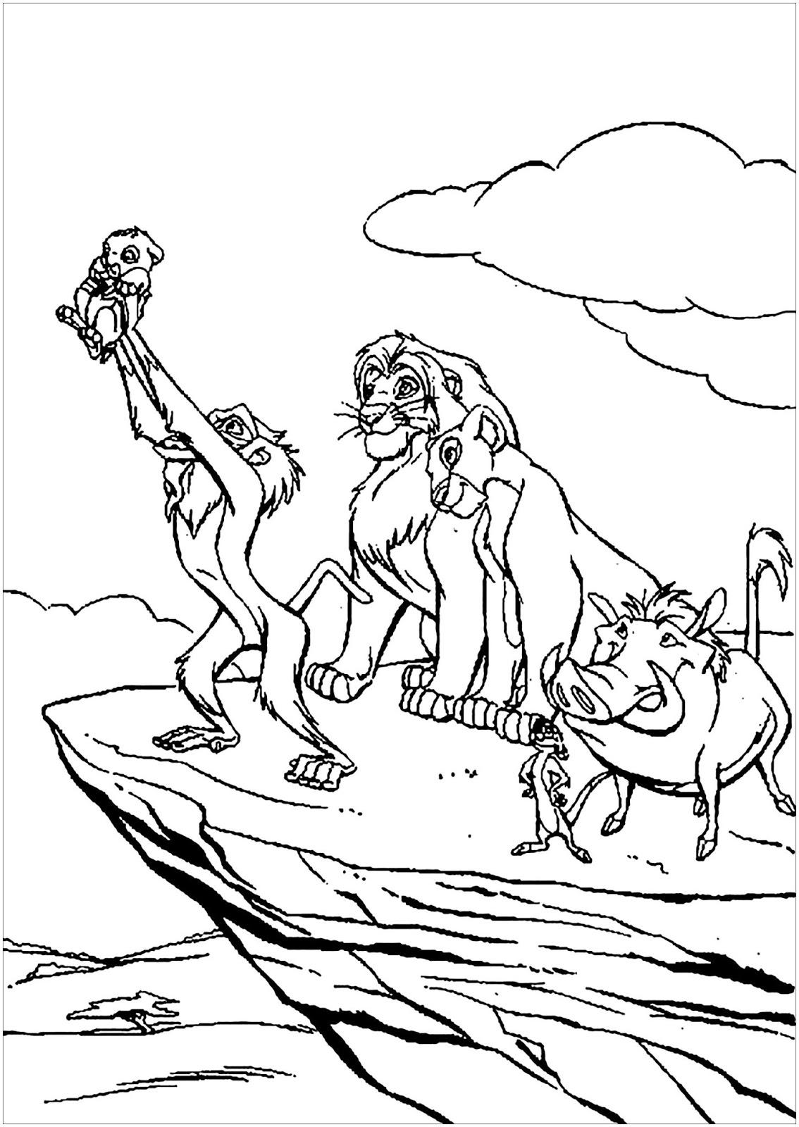 Tranh tô màu vua sư tử 18