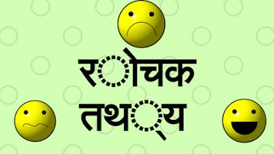 Amazing Facts (Rochak Jankari) in Hindi,