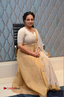 Actress Nithya Menen Pictures at 100 Days of Love Pre Release Press Meet  0180
