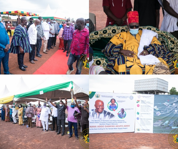 President Akufo-Addo Cuts Sod For $223 Million Tamale Water Supply Project
