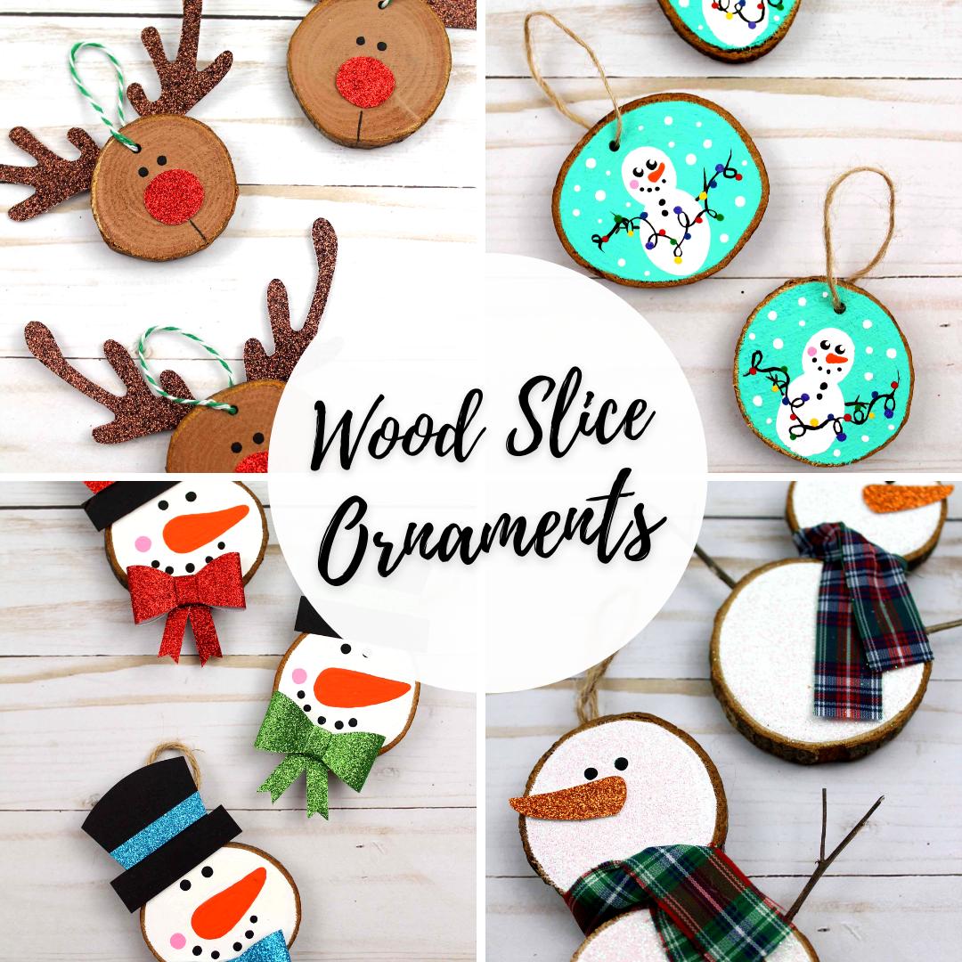 Wood slice ornament ideas