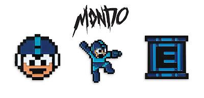 San Diego Comic-Con 2016 Exclusive Mega Man Enamel Pins by Jay Shaw & Mondo