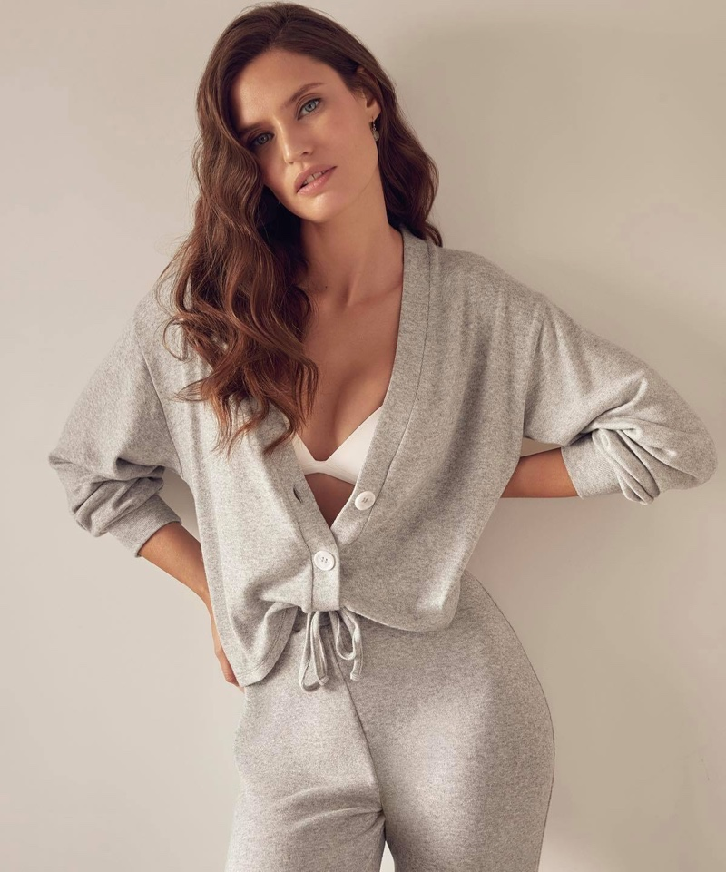 Bianca Balti poses in Yamamay Comfort Zone collection.
